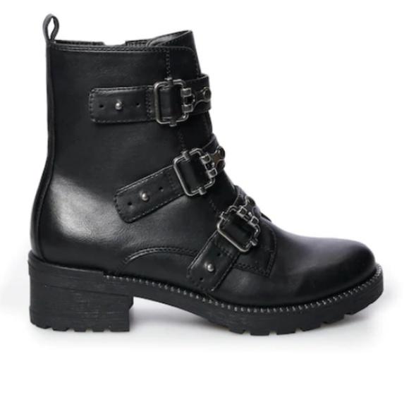 NWT Women/'s SO® Broccoli Combat Boots Shoes Choose Size Cognac